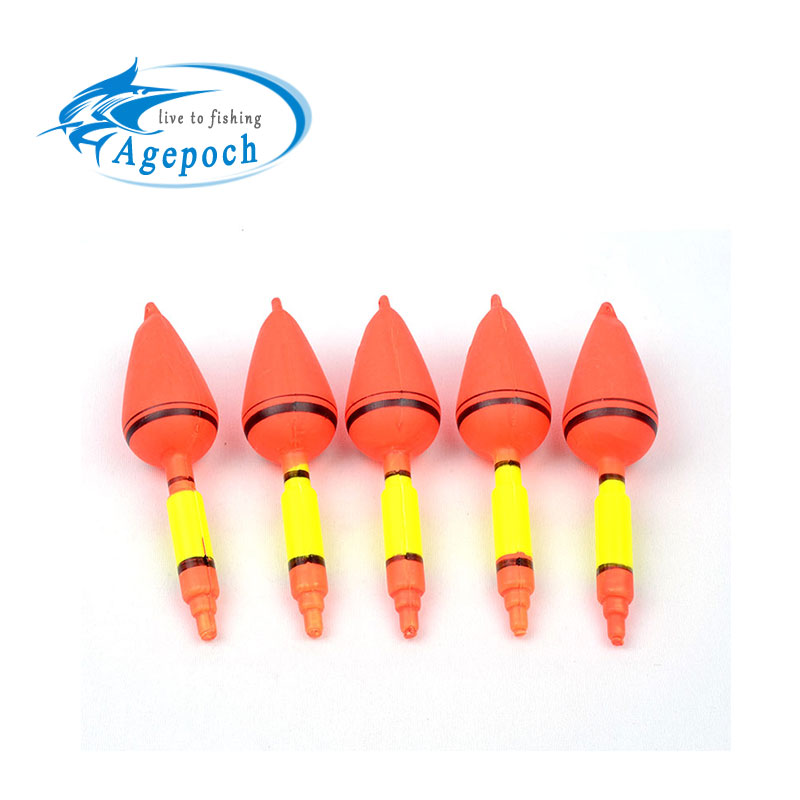 20PCS 2015 Excellent Quanlity Bright Orange Color Fishing Floats Bobbers Ball Float 13*4cm Sea Fishing Tackle Float(China (Mainland))