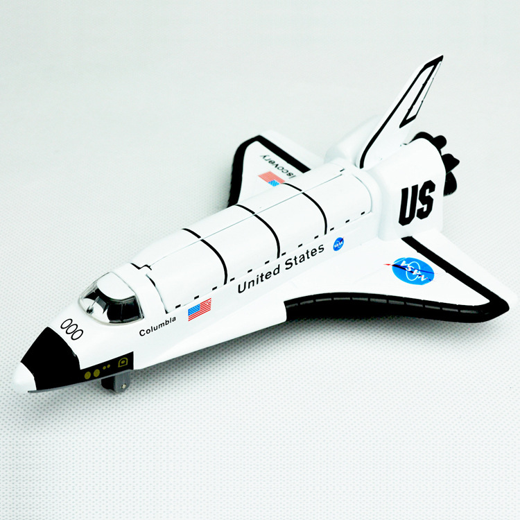 Alloy Space Shuttle , Space Craft , Space Plane, die cast Space Shuttle 19CM length with light and music(China (Mainland))