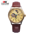Classic Fashion Watches Men luxury brand Tourbillon Mechanical watch Men Casual Leather watches Clock Reloj montre