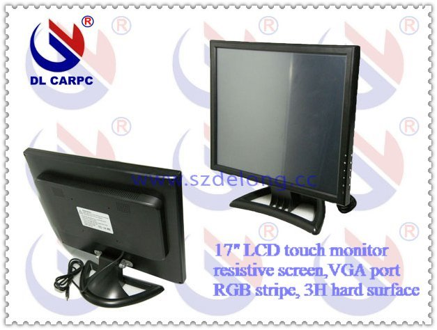 "2011 drop shipping 17"" LCD desktop Monitor with Touch Screen,VGA port, UPS68% delivery and on sale"