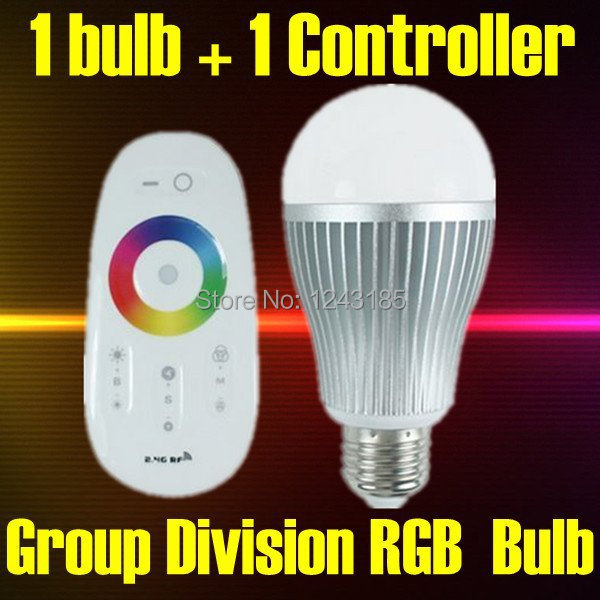 E27 Lamp base, 6W 2.4G Group Division Touch Screen Remote Control Color Changing Wifi LED RGB Bulb AC86-264V<br><br>Aliexpress