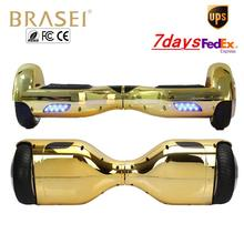 2 wheel self balancing electric scooters 6.5 in gold chrome hoverboard hover boards smart wheel drift  adult motorized