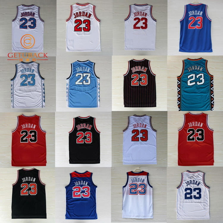 2015 NEW Michael Jordan Basketball Jersey High Quality Embroidery throwback jerseys Chicago #23 Sport Retro Shirt NA037(China (Mainland))