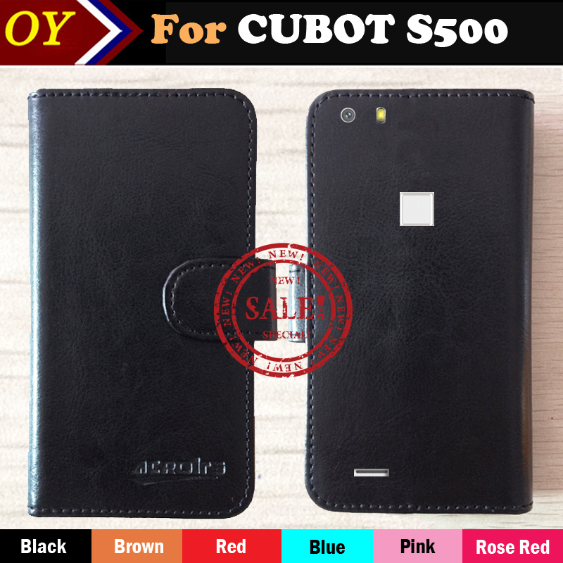 Hot!! CUBOT S500 Case Factory Price 6 Colors Dedicated Leather Exclusive For CUBOT S500 Phone Cover+Tracking(China (Mainland))