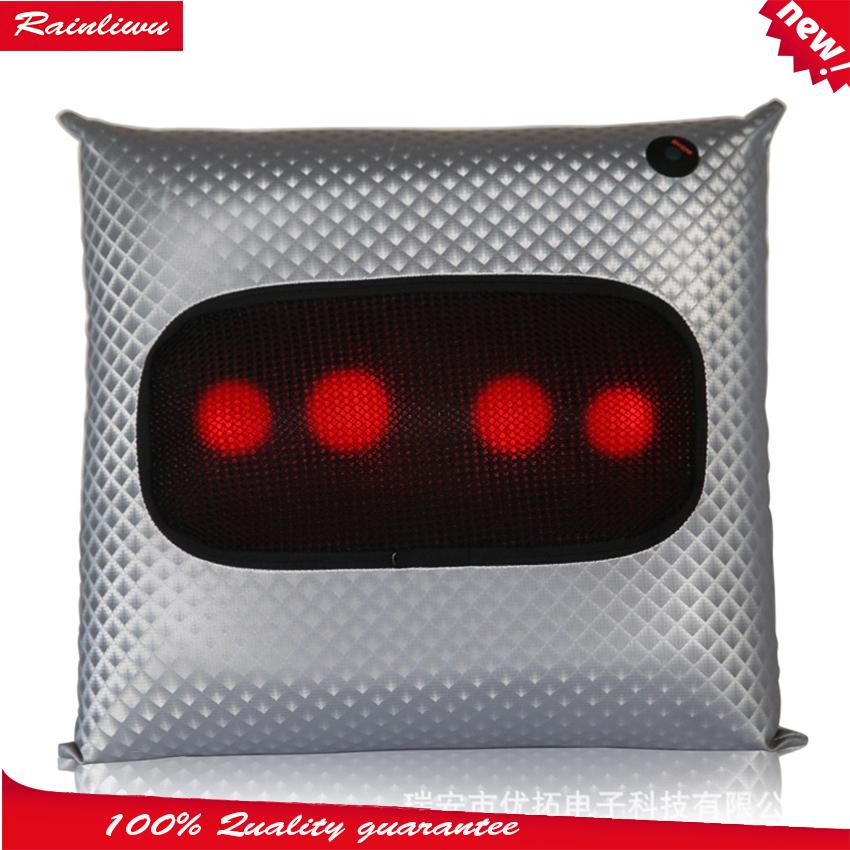 Massage Pillow Massage Cushion Neck Waist Back Massage Device Car Multi-function Cervical Vertebra Massage Instrument(China (Mainland))