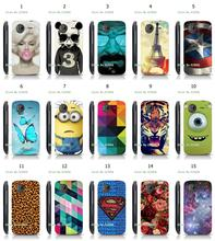 Mobile Phone Cases Hot 1pc Butterfly Minions Hybrid Design Protective White Hard Case For HTC G14 Free Shipping