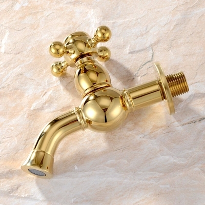 Furukawa genuine European antique mop pool wall leading into the American Classical All copper faucet water faucet spout Gold<br><br>Aliexpress