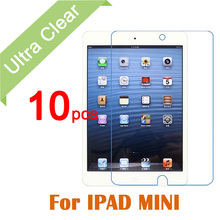 Mini 123 10pcs/lot Clear HD Glossy LCD Screen Protector For Apple iPad Mini 1 2 3 Tablet PC Transparent Protective Film +cloth