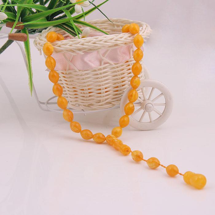 2015 New Style Unisex 33 Amber Prayer Beads African Muslim Rosary Bracelets Necklace Allah Muslim Prayer Rosary(China (Mainland))
