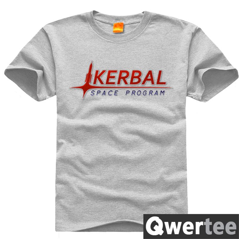 Game Kerbal Space Program T Shirts Men KSP Letter Printed Original Design Fashion Style Casual Cotton T-shirt TEE plus size 4XL(China (Mainland))