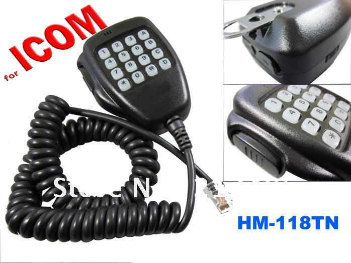 Free Shipping Remote Control DTMF Microphone HM-118TN for Icom Mobile Transceiver IC-2200H IC-V8000 IC-E208 IC-2100H etc(China (Mainland))