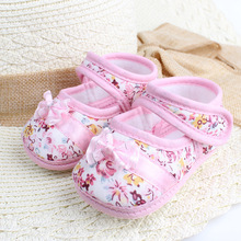 Girls flowers bow baby toddler shoes spring autumn children footwear first walkers