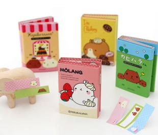 Гаджет  Free Shipping Kawaii Molang Rabbit Memo Notepad,Note Book&Memo Pad,Sticky Notes Memo Set,Gift Stationery Wholesale None Офисные и Школьные принадлежности