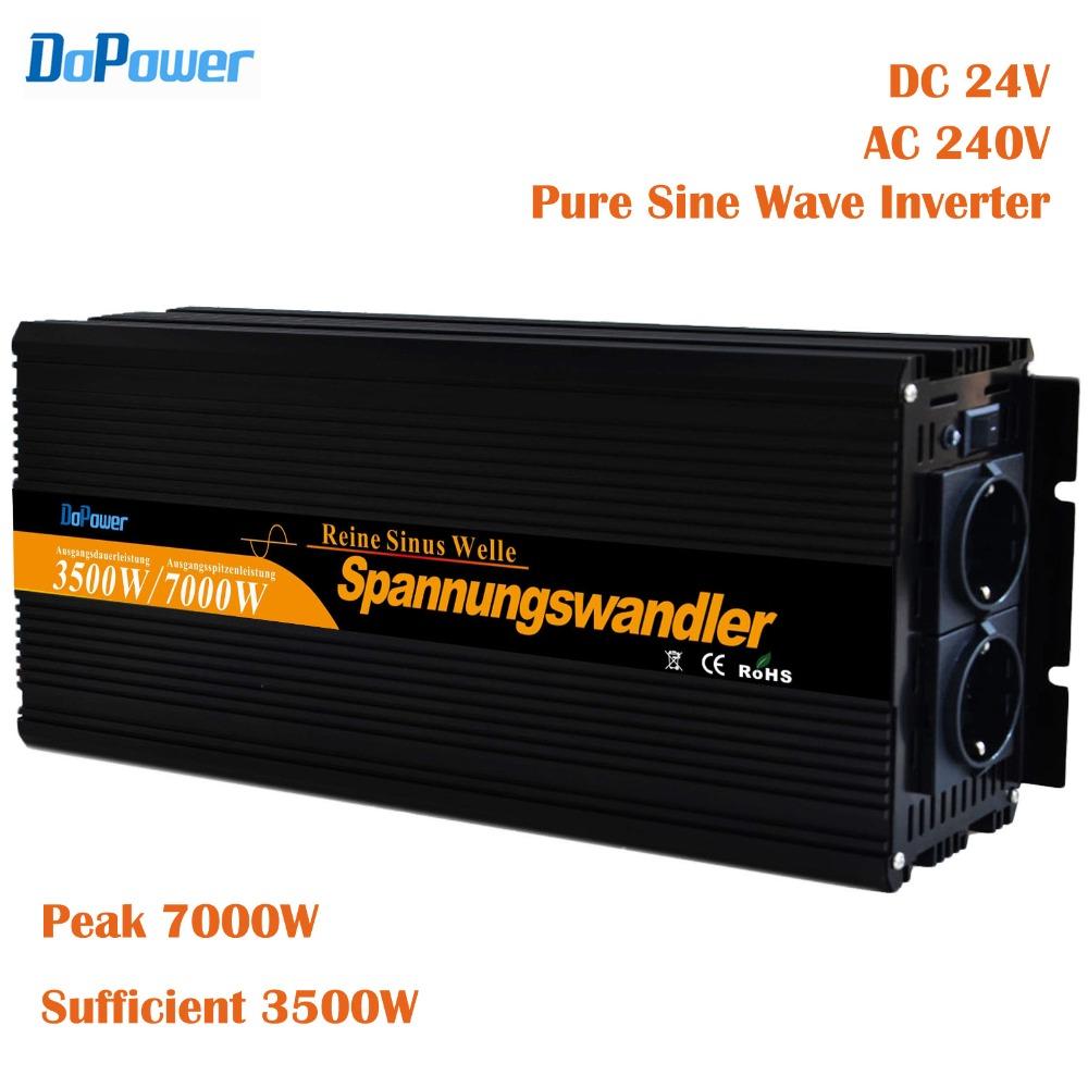 inverter 24v 3500w / 7000w peak pure sine wave power solar inverter 24vdc to 220vdc ,230vdc,240vdc(China (Mainland))