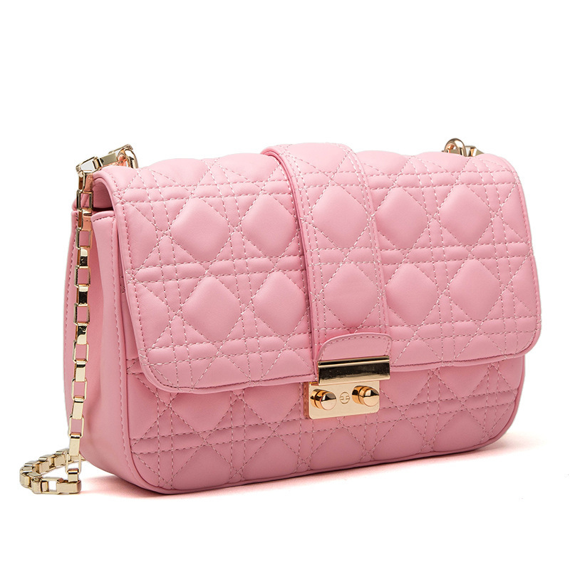 Explosion Models 2015 Women Summer New Chain Handbag Quilted Fashion Casual Ladies Shoulder Messenger Bag Leather Plaid Tote(China (Mainland))