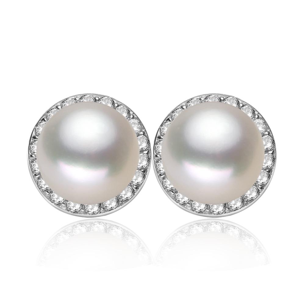 Bijou Perle Deau Douce : Perle argent pur boucles d oreilles naturel eau