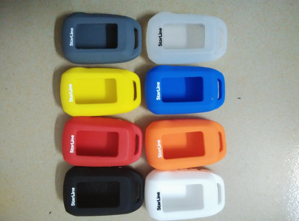 2015 Starline A92 Silicone case keychain LCD two way car alarm system new remote control Case - YiYuan Store store