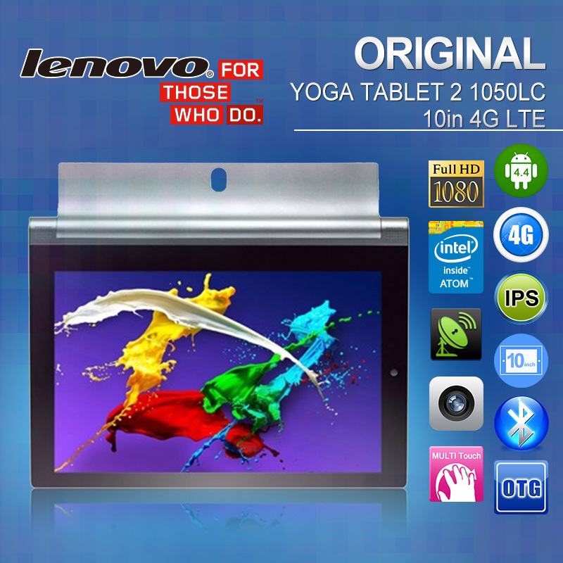 "Original Lenovo YOGA Tablet 2 PC Phone1050LC 4G LTE 10.1"" 1920 x1200 IPS Full HD Intel Atom Z3745 2GB+16GB Android 4.4 1.6+8.0MP(China (Mainland))"