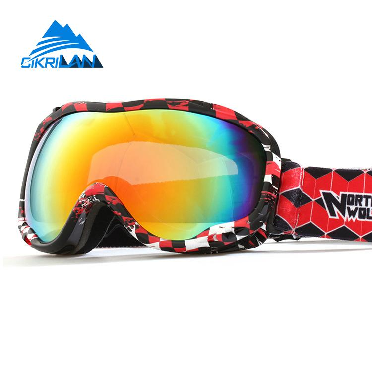 Hot Sale Professional Outdoor Sport Ski Snowboard Goggles Double Lens Anti Fog Anti-uv Snow Motocross Skiing Glasses Men Women(China (Mainland))
