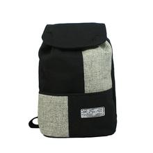 unisex vintage linen material big backpack, unique ethnic designer shoulders bag fashion(China (Mainland))