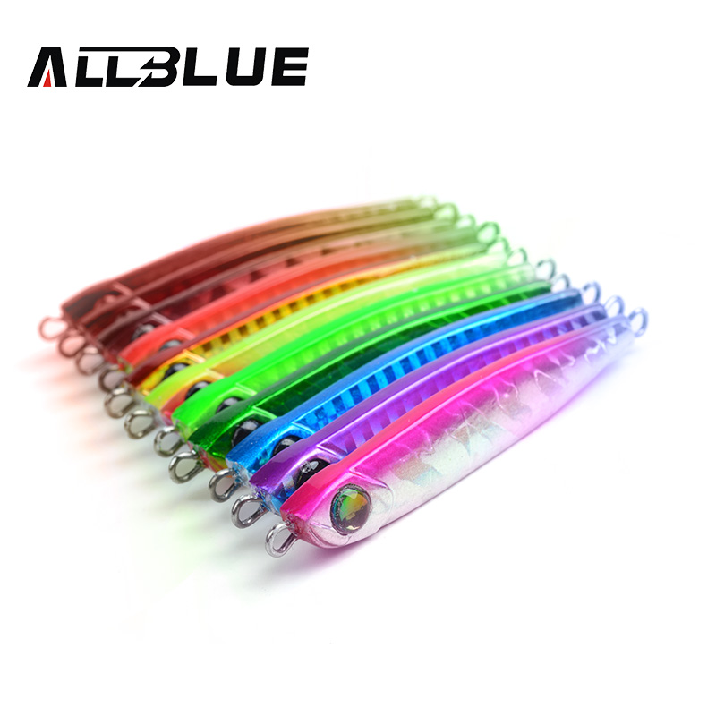 ALLBLUE High Quality Metal Jigging Spoon 35g 3D Eyes Artificial Bait Boat Fishing Jig Lures Super Hard Lead Fish Fishing Lures(China (Mainland))