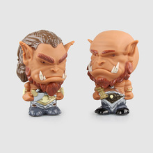 Game Movie WOW Orgrim Durotan PVC 15cm Action Figure Wiht Light Anime Cute Model Fan Collection Plastic Toys Boy Gifts GS0140