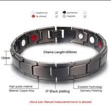 Sano Braccialetto Magnetico per le Donne Potenza Therapy Magneti Magnetite Braccialetti Braccialetti Degli Uomini Salute e Bellezza Gioielli In Acciaio WNW137(China)