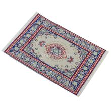 New Arrivals 2015 Dollhouse Furniture Miniature Woven Rug Multi- Colored Carpet Free Shipping(China (Mainland))