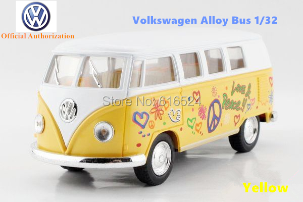Kinsmart toys Brand New Volkswagen Classical Bus Diecast 1/32 large Alloy car model by Soft-World Classic Pull Back Open Door(China (Mainland))