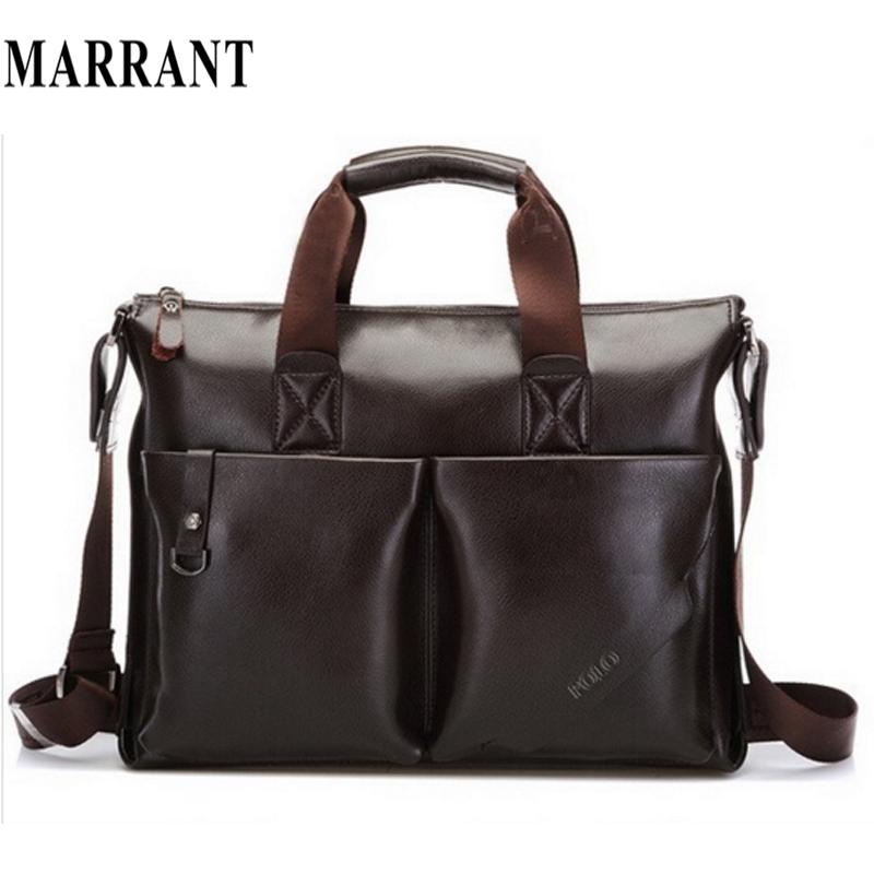 2015 Men messenger bags Mens casual briefcase business Handbag Bag Men PU Leather Shoulder bag Tote Designer Computer Laptop NEW