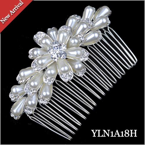 1 pearl handmade hair comb 1A18 . 2014 New Fashion Bridal Hair Accessories Wedding hairJewelry