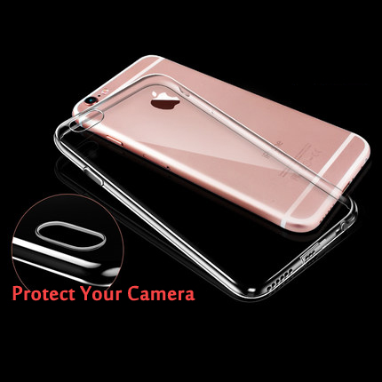 Ultra Thin Soft TPU Gel Original Transparent Case For iPhone 6 6S Crystal Clear Silicon Back Cover Phone Bags For IPhone(China (Mainland))
