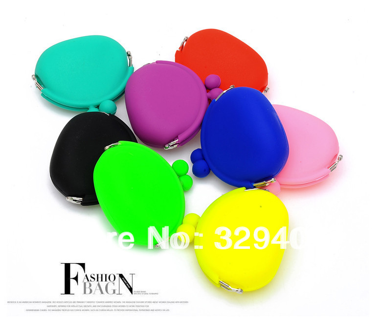 Free shiping wholesale 2014 fashion candy color Silicone lovely coin purse Key Money Bag Jelly Bag Japanese Style Coin Wallet(China (Mainland))