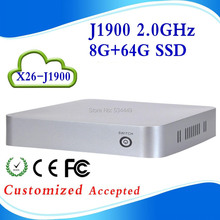 Promotional price !!! Various Colors!!! family computer htpc fanless mini pcs x26-j1900 8G ram 64g ssd support Speakers,Plotter