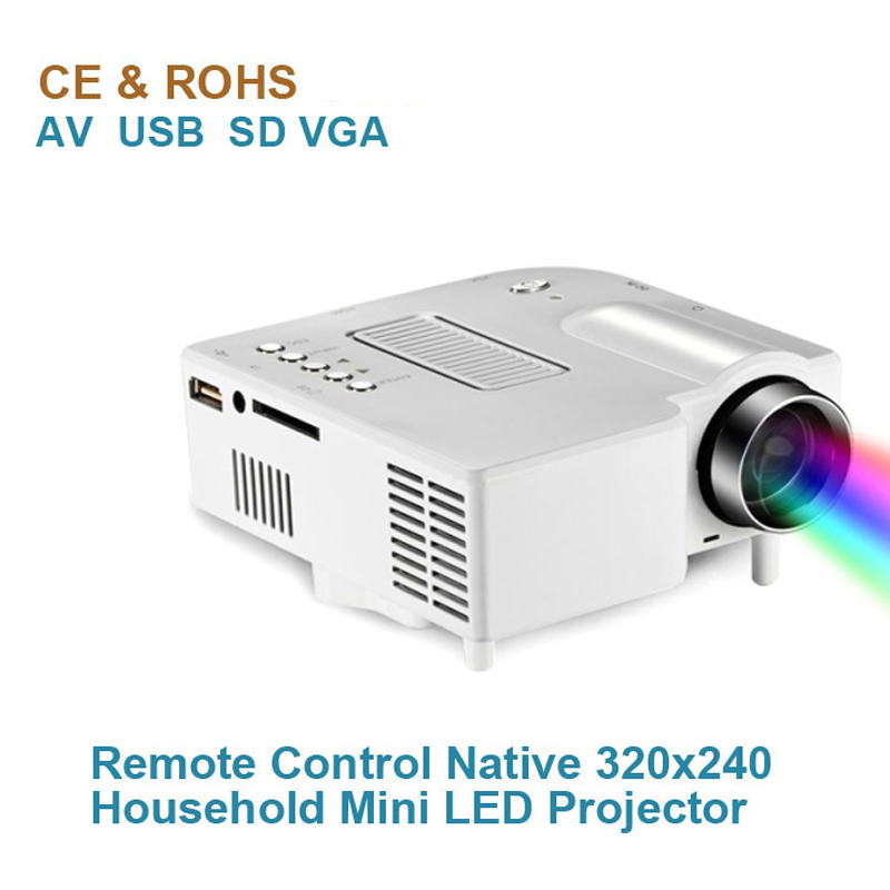 New free shipping uc28 led projector mini micro av led digital video game projectors multimedia for Micro mini projector