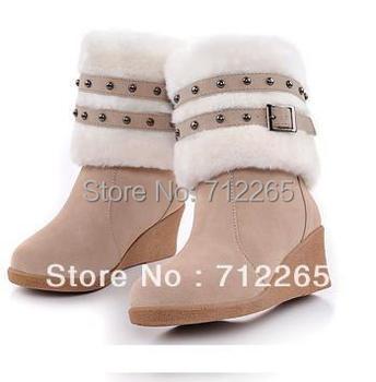 Women's shoes high-leg   wedges snow boots female platform cotton-padded shoes