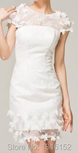 Free shipping manufacturers selling high quality lace short-sleeved above knee mini wedding dresses wholesale retail custom size(China (Mainland))