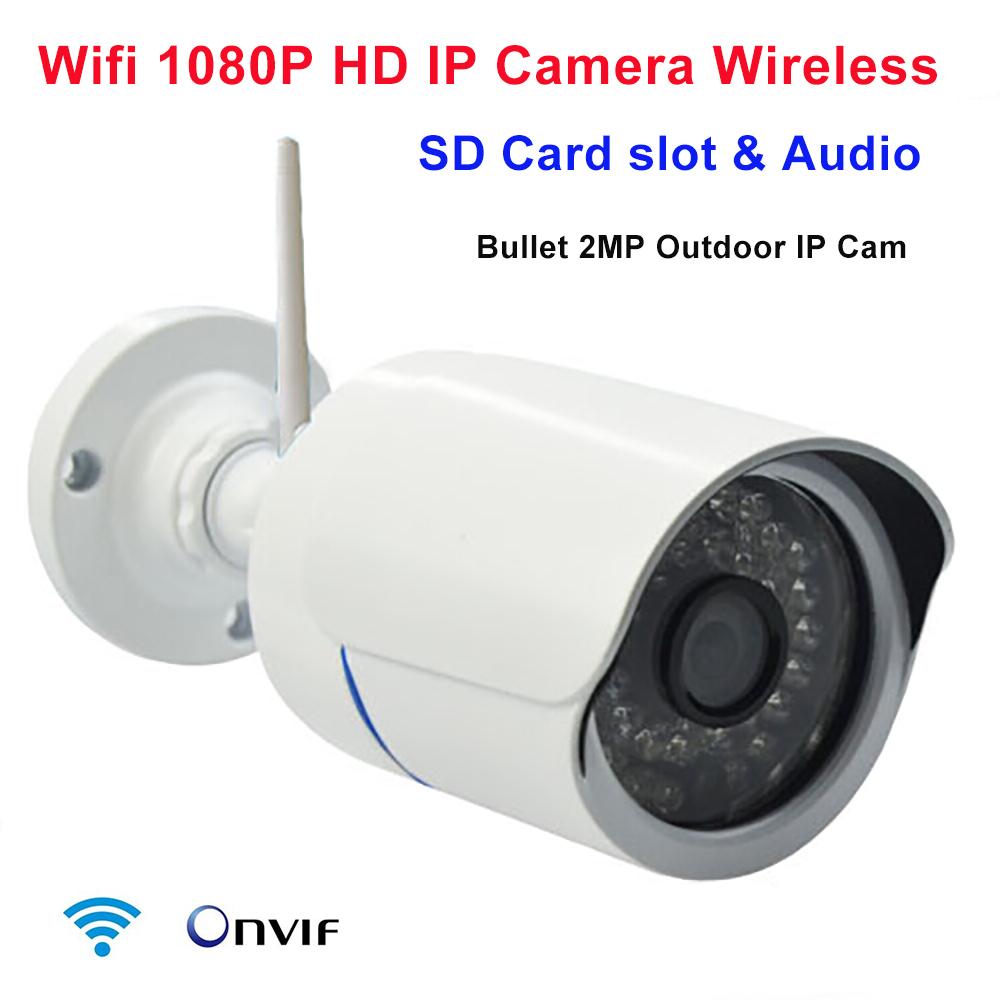 Гаджет  IP camera 1080p 2mp wireless security ip cam sd card slot onvif p2p wifi megapixel outdoor waterproof IR infrared HD CCTV camera None Безопасность и защита