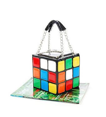 2015 Hotsale 1pcs/Lot Women's Hot Cute Magic Cube Bag Purse Korean Fashion Handbags Wholesale And Dropship drop shipping(China (Mainland))