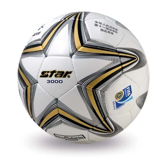 Free shipping! High quality Match use Star Soccer Ball/Football Size 5 SB145AF New Polaris 3000  Gift: gas pin,net bag,backpack