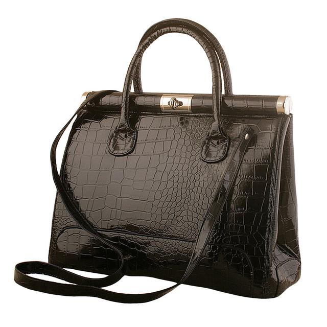 Fashion Female handbags crocodile pattern women's bag portable shoulder Motorcycle Bag