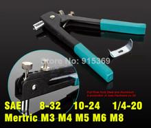 M3-m4 M5 M6 M8 6-32 8-32 10-24 1/4 – 20 unc Rviet herramienta para tuercas inserción herramienta para arma tuerca de remache