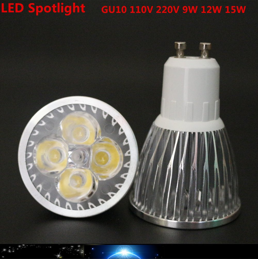 10x super bright 9w 12w 15w gu10 led bulbs light 110v 220v. Black Bedroom Furniture Sets. Home Design Ideas