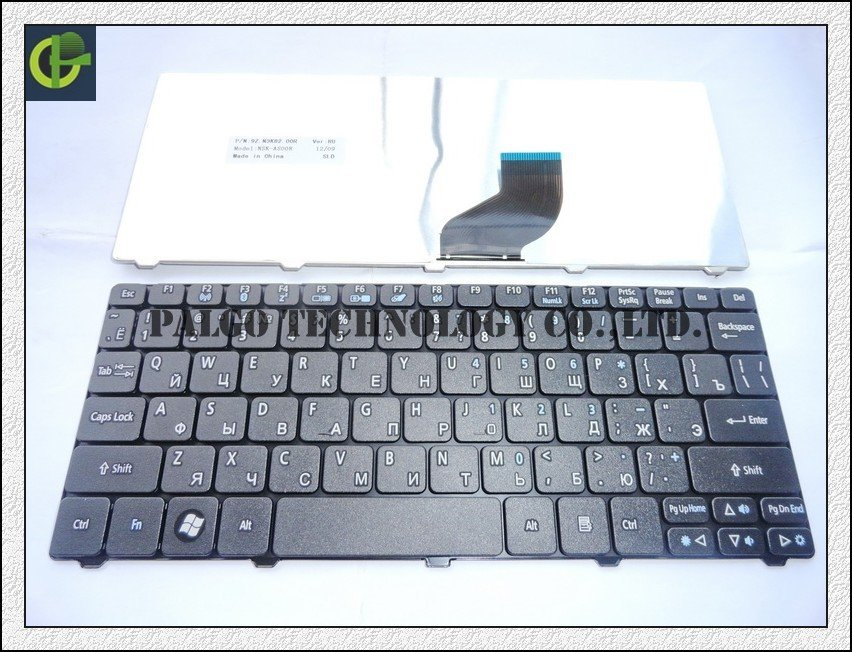 Гаджет  Russian Keyboard for Acer Aspire One D255  D257 AOD257 D260 D270 AOD260 AO521 AO533 521 533 RU Black laptop keyboard None Компьютер & сеть
