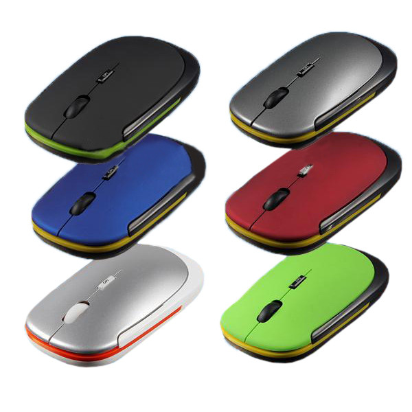 Brand New Whole Price 2Color Slim Mini USB Wireless Optical Mouse For PC Laptop(China (Mainland))