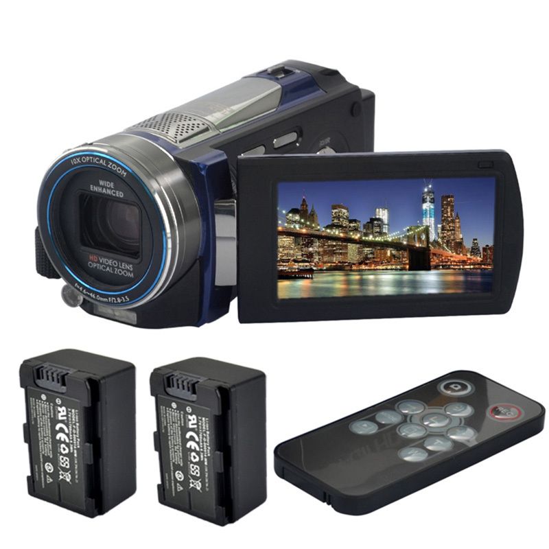16Mp Touch Screen Digital Camcorder +2* Batteries+Remote Control 3.0 LCD HD Video Camera IR Night Vision 100XZoom Handheld DV<br><br>Aliexpress