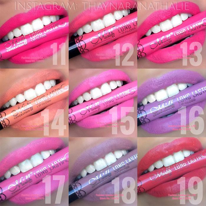 100pcs Matte lipstick Makeup Elegant Daily Color long lasting velvet matte lipstick vitality Menow Waterproof lip gloss<br><br>Aliexpress