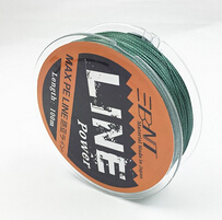 BNT Brand Multifilament PE Braided Fishing Line Carp 100m Super Strong 4 Stands 8/10/20/30/40/60LB Free Shipping(China (Mainland))