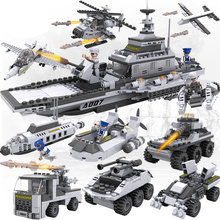 25 in 1 blocks Military blocks helicopter tank model building blocks chariot car war The aircraft carrier build boat toy 3D toys