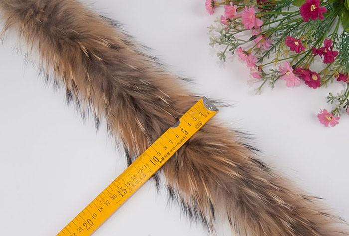 "1 Genuine Nature Brown Black Raccoon Tail Key Chain 11/""-13/"" Ball Chain"